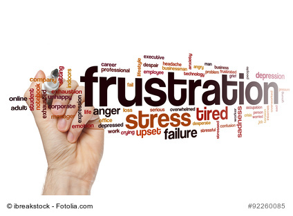 Frustration wordcloud